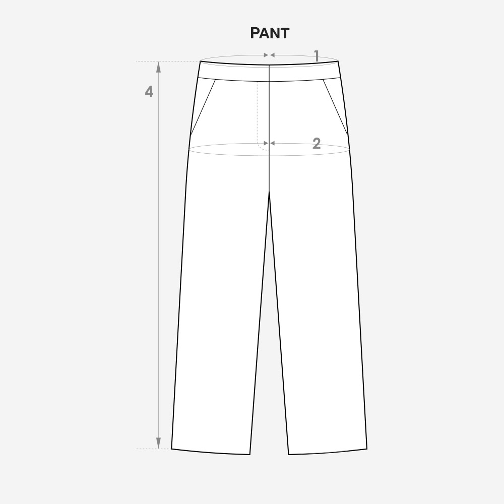 size guide pant